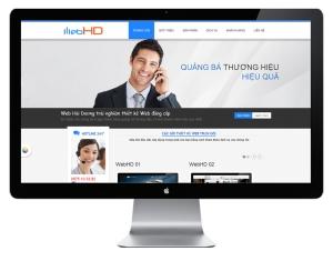 Mẫu thiết kế website - Web HD 03