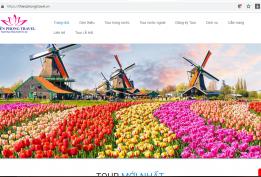 Thiết kế website công ty du lịch